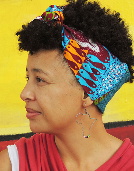 African Print Half Knit Head Ties