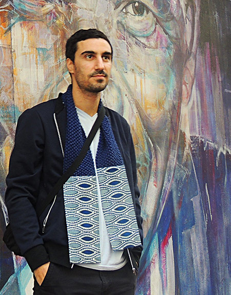 Africa Print Fabric & Knitted Scarf - The Chairman