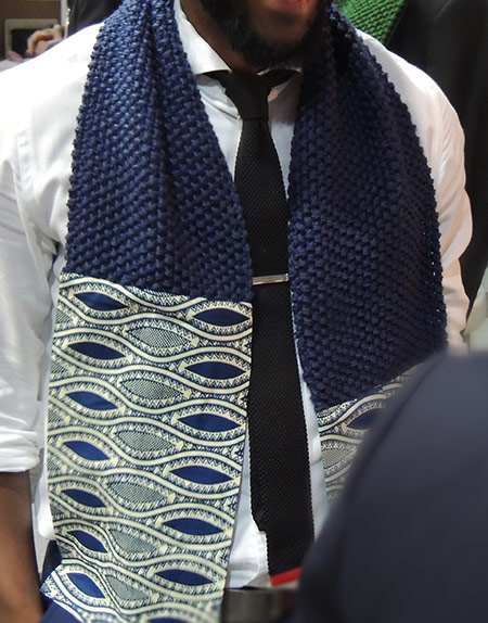 Africa Print Fabric & Knitted Scarf - The President
